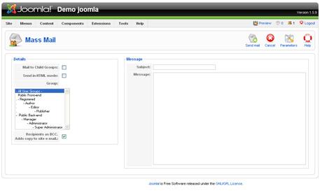 joomla mass email Joomla Mass Mail